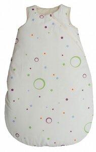 Baby Schlafsack weiß mit bunten Punkten und Lavalanfüllung Bio Baumwolle - Popolini