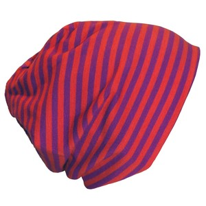 Mütze 'Line' lila/orange geringelt - bingabonga