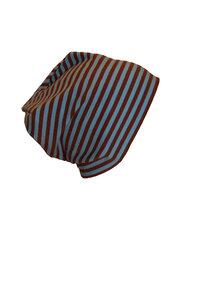 Mütze 'Line' hellblau/braun geringelt - bingabonga