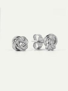 Ohrstecker Megan | Minimal Knot Studs in Gold/Silber - DEAR DARLING BERLIN