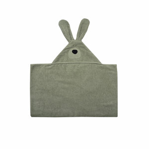 """Badetuch mit Kapuze """"Bunny Junior"""" - aus Bio-Baumwolle (GOTS-Zertifiziert) - Wooly Organic"""