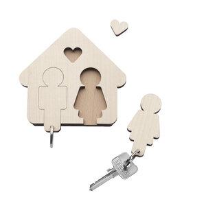 Design Schlüsselbrett mit Schlüsselanhänger - HOME SWEET HOME - designimdorf
