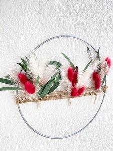Trockenblumenkranz mit Pampasgras im Boho-Stil - Blooms 'n' Stories