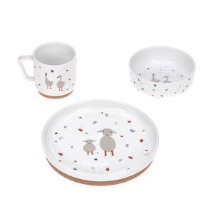 LÄSSIG Kindergeschirr Set Porzellan - Dish Set, verschiedene Desings - Lässig