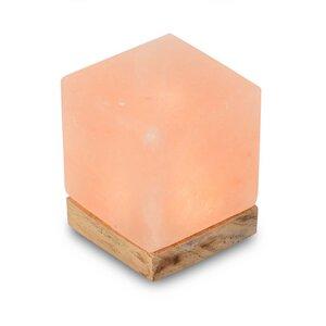 Tischleuchte aus Salzkristall LED Kubus - Mitienda Shop