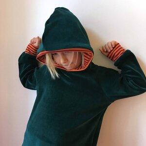 Nicki Hoodie smaragdgrün - bingabonga