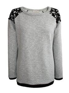 LACY Sweatshirt - grau meliert - woodlike