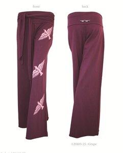 Ladies Bird Pants with Tie West (Big Birds) - Chakura by Ku Ambiance
