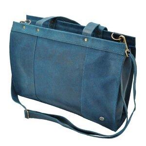 Elegante - Laptoptasche Rindsleder - dunkelblau - MoreThanHip