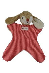 Schmusetuch Hase rot/gestreift 26cm - Kallisto