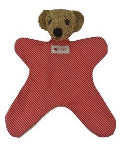 Schmusetuch Bär rot/gestreift 26cm - Kallisto