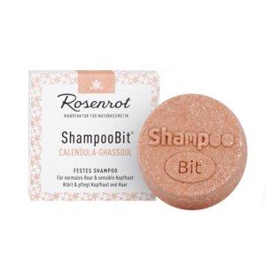 ShampooBit® - festes Shampoo Calendula-Ghassoul - 60g - Rosenrot Naturkosmetik