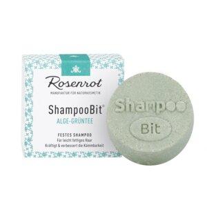 festes Shampoo Algen-Grüntee - 60g - Rosenrot Naturkosmetik