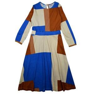 Maxi Kleid Colorblock – Bio-Baumwolle - Baba Kidswear