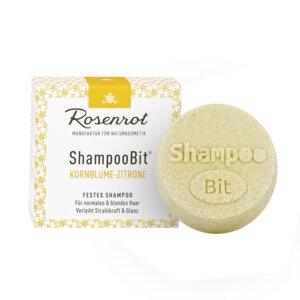 festes Shampoo Kornblumen-Zitronen - 60g - Rosenrot Naturkosmetik