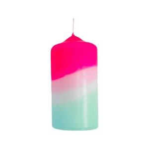 Dip Dye Stumpenkerze - Just Be