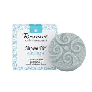 ShowerBit - festes Duschgel Meeresfrische - 60g - Rosenrot Naturkosmetik