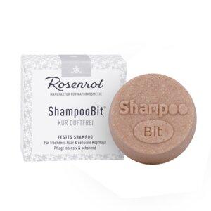 festes Shampoo Kur duftfrei | in Schachtel - 60g - Rosenrot Naturkosmetik