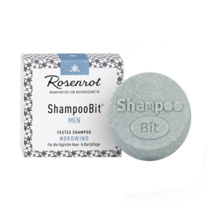festes Shampoo MEN Nordwind - 60g - Rosenrot Naturkosmetik