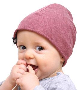 Baby-Mütze - rosa meliert - Lena Schokolade