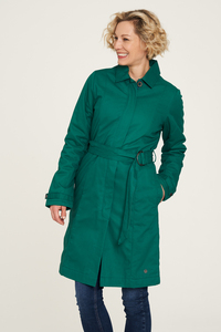 Twill-Jacke aus Biobaumwolle in Grün und Blau - TRANQUILLO