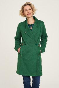 Fleece-Mantel aus recyceltem Polyester in Grün und Blau - TRANQUILLO