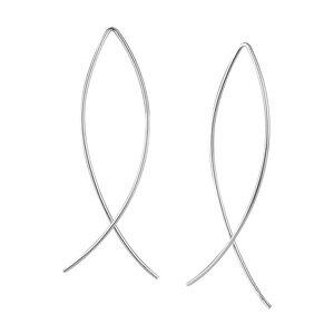 Puristischer Bügel Ohrring verschlungen aus 925er Sterling Silber - Gold/Silber - LUXAA®