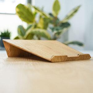 Laptopständer aus Massivholz - Laptoperhöhung aus Eiche oder Walnuss, Laptopstand - JUNGHOLZ Design