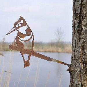 Eisvogel - Metall Vogel im Garten - MoreThanHip