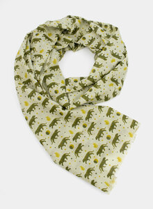 Schal aus Bio-Baumwolle – kleine Tiger - Djian Collection