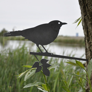 Amsel - Metall Vogel im Garten - MoreThanHip