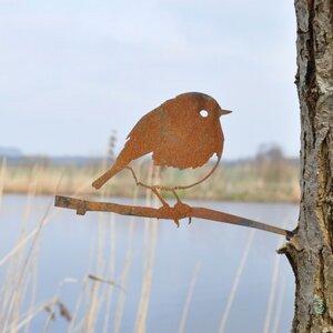 Rotkehlchen - Metall Vogel im Garten - MoreThanHip