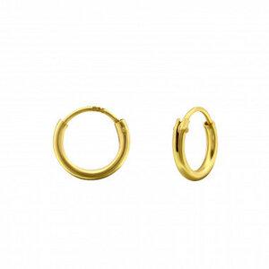 Kleine Creolen Ohrringe - 925er Sterling Silber - Gold - 8mm/10mm - LUXAA®