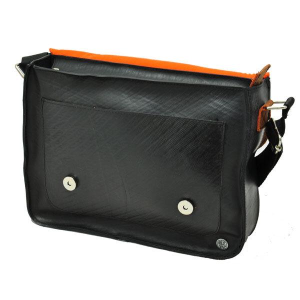 morethanhip cartera de luxe satchel tasche aus lkw schlauch und ko leder rost braun. Black Bedroom Furniture Sets. Home Design Ideas