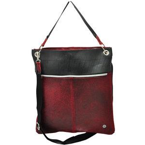 Muchacha - Damentasche aus LKW Schlauch und Öko Leder - rot - MoreThanHip