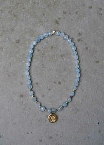 Vishuddha Chakra Armband aus Aquamarin - chakrana
