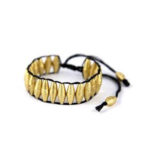 Armband aus goldenen Papierperlen - HUMMEL&WOLF-Faire Accessoires