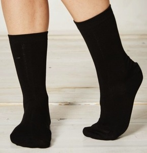 4er Pack Bambus Socken Solid Jackie Plain Black - Braintree