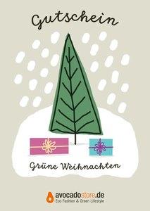 25 € Geschenk-Gutschein - Grüne Weihnacht - Avocado Store