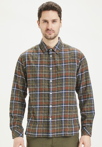 Flanellhemd - LARCH regular fit small checked - KnowledgeCotton Apparel