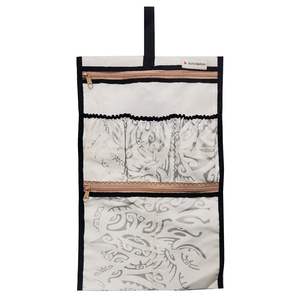 Kulturbeutel zum Aufhängen upcycled aus Kitesegeln Segeltuch Canvas UNIKAT - Beachbreak