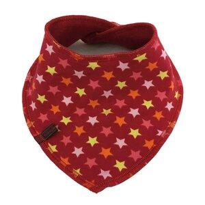 winterfestes Wende-Halstuch, kleine Sterne rot - bingabonga