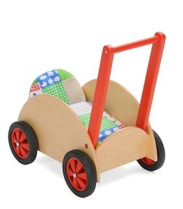 Puppenwagen aus Buche massiv.  Inkl. Kissen und Decke. Einfach toll für die Kleinen - Bätz Holzspielwaren