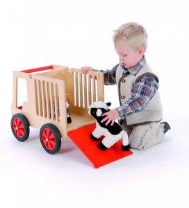 Tiertransporter super süss für Kids, aus Holz Buche massiv (ohne Deko) - Bätz Holzspielwaren
