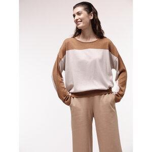 Pullover mit Colourblock-Streifen aus Bio-Baumwolle - LANIUS