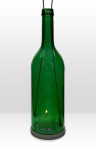 hängeWINDLICHT® aus der 0,7l Bordeaux Flasche mit Schraubmündung - MaBe