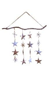 Mobile Windspiel Sterne & Schneeflocken - ReineNatur
