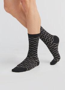 "3 Paar Damen Herren Socken Bio-Baumwolle Zickzack 1323 ""ALBERO"" - Albero"