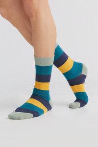 "3 Paar Ringel Strümpfe Bio-Baumwolle Socken 2312-13 ""ALBERO"" - Albero"