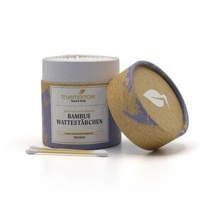 Bambus Wattestäbchen in edler Papierverpackung - truemorrow